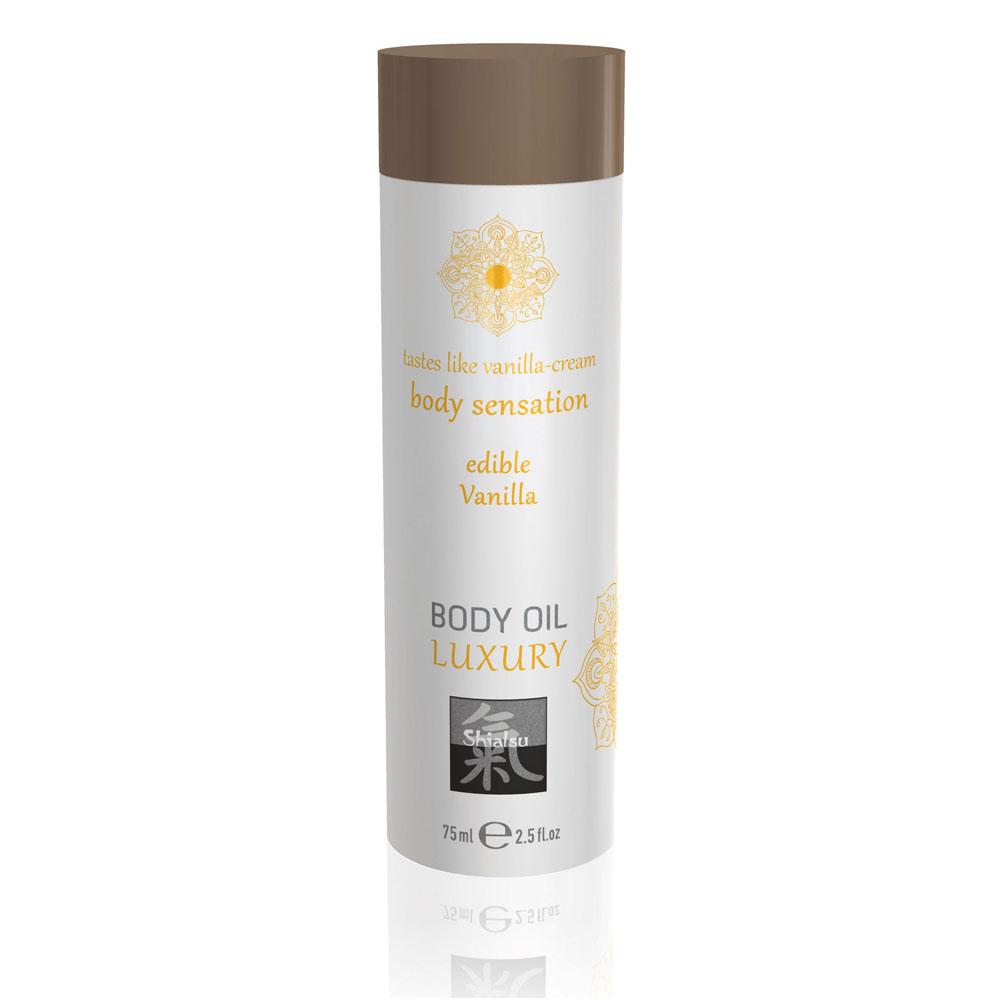Shiatsu Luxury Body Oil Edible Vanilla 75ml