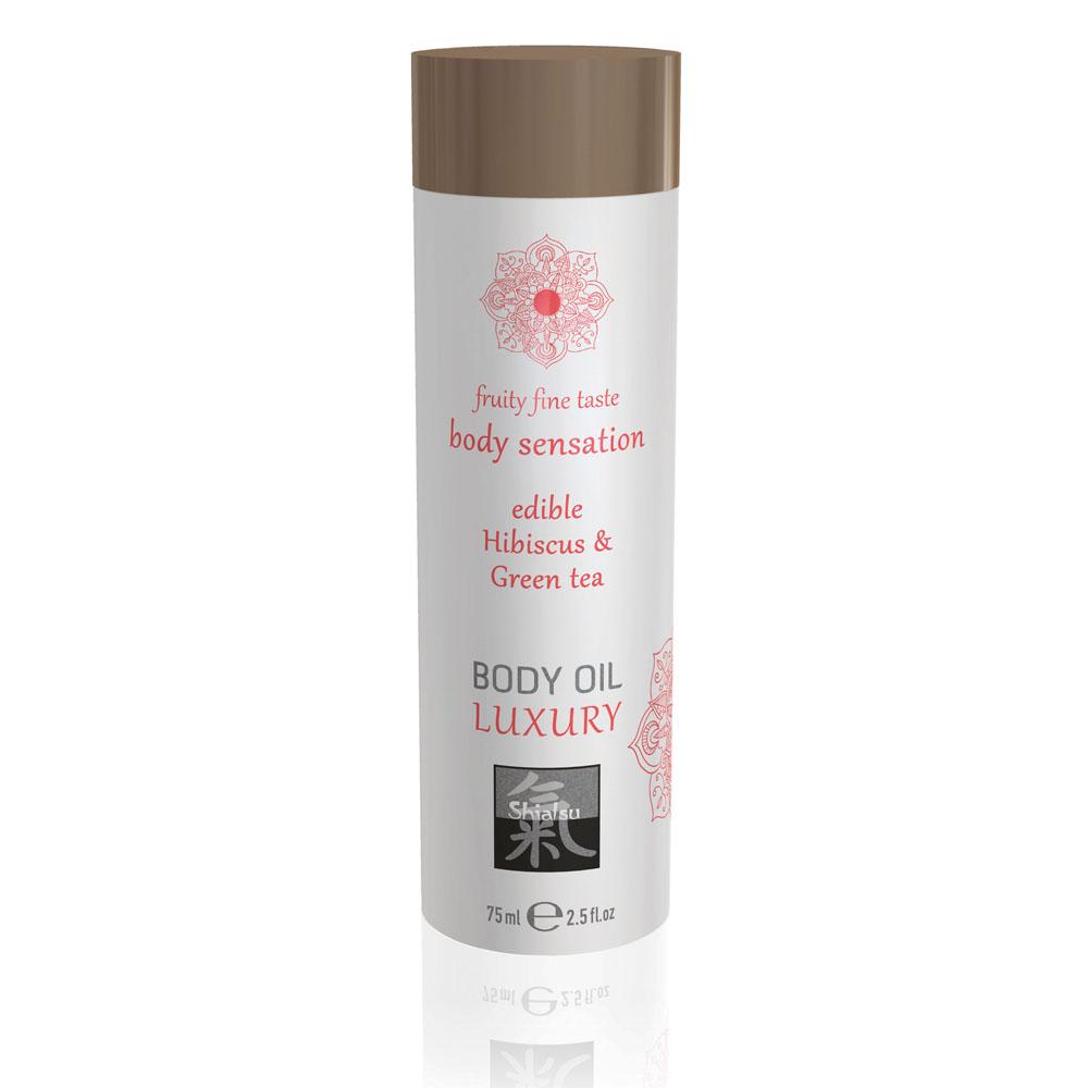Shiatsu Luxury Body Oil Edible Hibiscus And Green Tea 75ml
