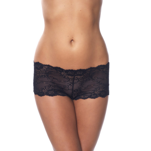 Black Lace Hotpants