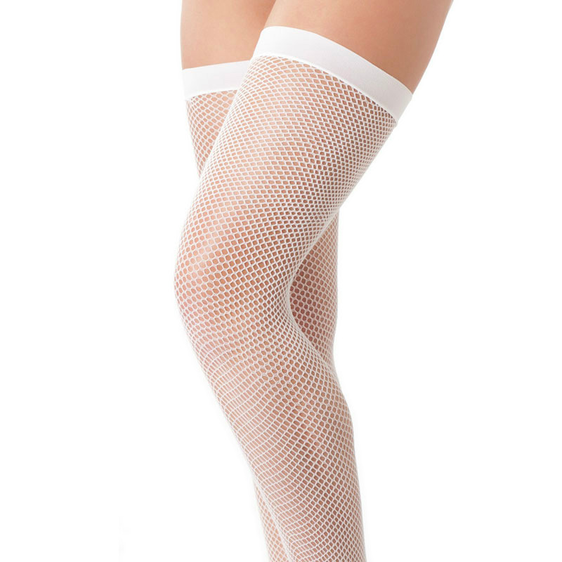 White Fishnet Stockings
